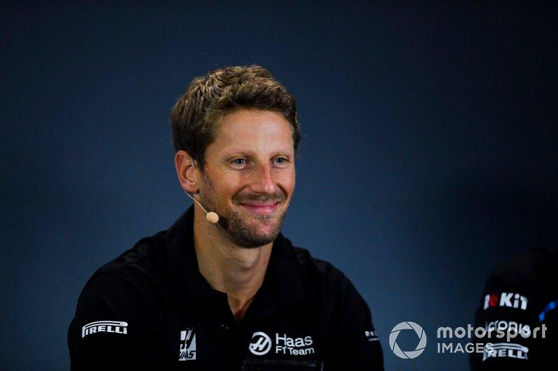 Romain Grosjean, Haas F1 Team in conferenza stampa