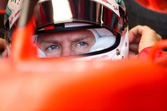 Sebastian Vettel, Ferrari, dans sa voiture