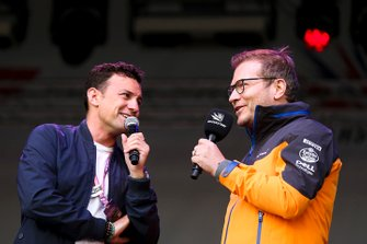 Will Buxton interviews Andreas Seidl, Team Principal, McLaren, on stage
