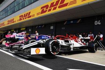 Car of Kimi Raikkonen, Alfa Romeo Racing C38 in the pit lane