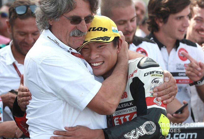 Il vincitore della gara Tatsuki Suzuki, SIC58 Squadra Corse