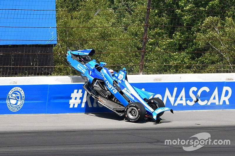 Incidente: Felix Rosenqvist, Chip Ganassi Racing Honda