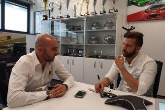 Giorgio Sanna, capo di Lamborghini Motorsport e Francesco Corghi, giornalista di Motorsport.com