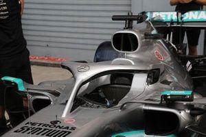 Mercedes AMG F1 W10, dettaglio dell'abitacolo