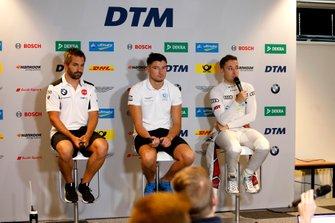 Тимо Глок, BMW Team RMG, Джейк Деннис, R-Motorsport, и Робин Фрейнс, Audi Sport Team Abt Sportsline