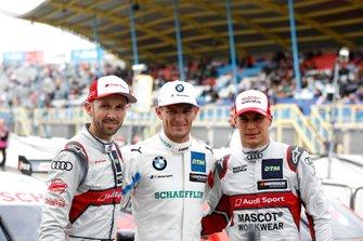 Top-drie na kwalificatie, Polesitter Marco Wittmann, BMW Team RMG, René Rast, Audi Sport Team Rosberg, Loic Duval, Audi Sport Team Phoenix