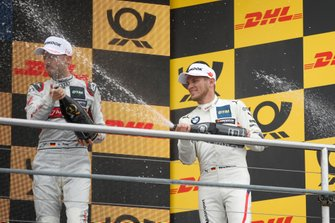 Podium: René Rast, Audi Sport Team Rosberg and Marco Wittmann, BMW Team RMG