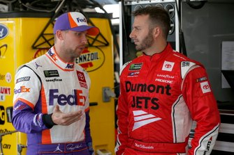 Denny Hamlin, Joe Gibbs Racing, Toyota Camry FedEx Express Matt DiBenedetto, Leavine Family Racing, Toyota Camry Dumont Jets