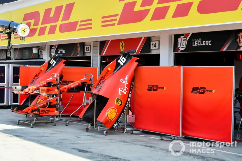 Cubierta motor y alerón delantero del Ferrari SF90