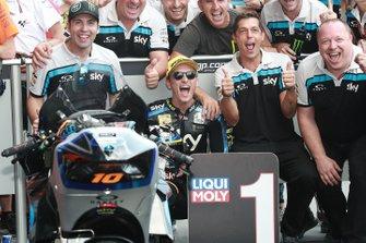 Podio: il vincitore della gara Luca Marini, Sky Racing Team VR46