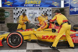 Ryan Hunter-Reay, Andretti Autosport Honda celebra la victoria