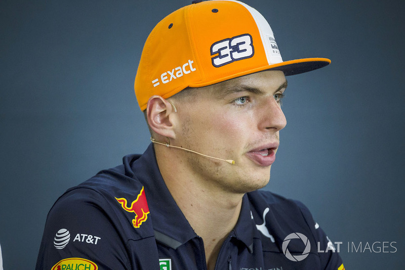 Max Verstappen, Red Bull Racing in press conference