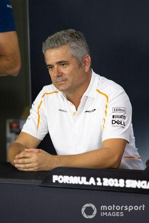 Gil de Ferran, Direttore sportivo, McLaren, nella conferenza stampa