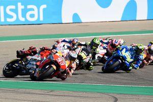 Хорхе Лоренсо, Ducati Team (авария), и Марк Маркес, Repsol Honda Team