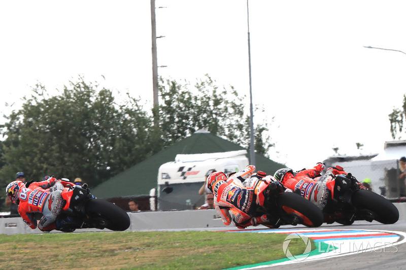 Andrea Dovizioso, Ducati Team, Marc Marquez, Repsol Honda Team, Jorge Lorenzo, Ducati Team