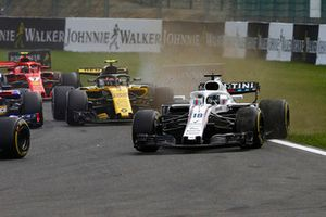 Lance Stroll, Williams FW41, runs wide
