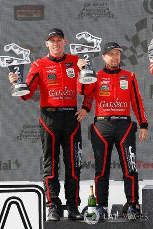 #99 JDC/Miller Motorsports ORECA 07, P - Stephen Simpson, Mikhail Goikhberg, podium