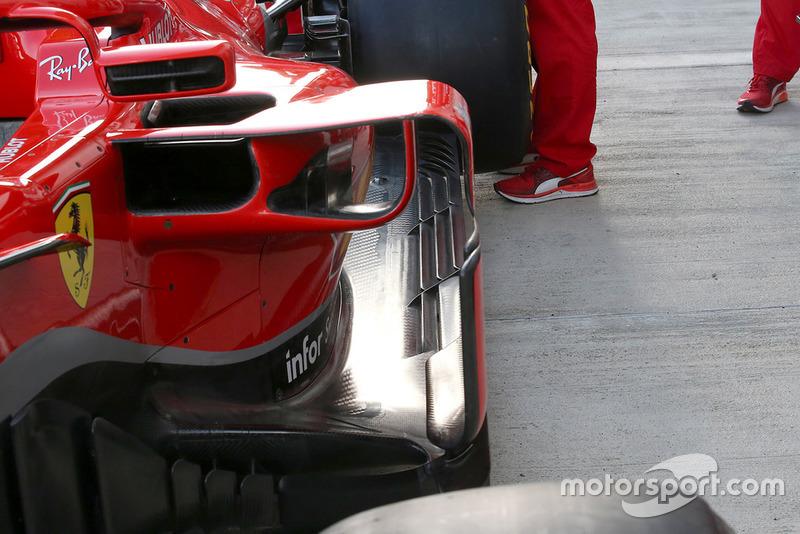 Ferrari SF71H detalle lateral