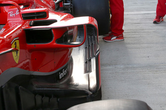 Detalle lateral de Ferrari SF71H