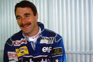 Race winner Nigel Mansell, Williams