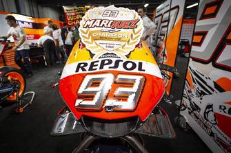 Vue détaillée de la moto de Marc Marquez, Repsol Honda Team