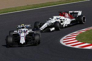 Sergey Sirotkin, Williams FW41 et Marcus Ericsson, Sauber C37