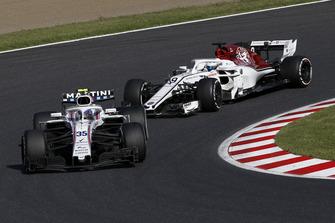 Sergey Sirotkin, Williams FW41 en Marcus Ericsson, Sauber C37