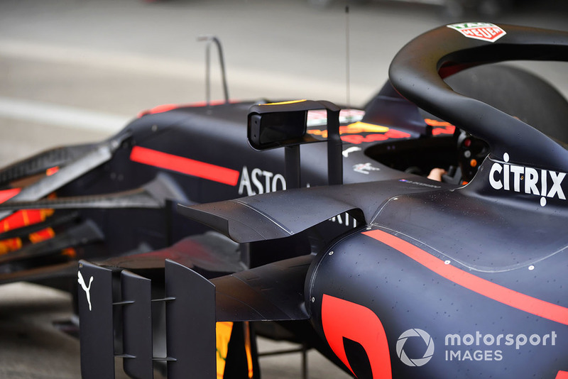 Bodywork on Red Bull Racing RB14