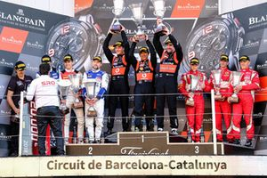 Podio classe Pro-Am: i vincitori Fabrizio Crestani, Miguel Ramos, Giuseppe Cipriani, Daiko Lazarus Racing