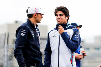 Esteban Ocon, Racing Point Force India, with Lance Stroll, Williams Racing