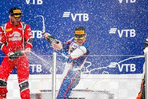 Podio: ganador, David Beckmann, Trident, segundo, Joey Mawson, Arden International, tercero, Richard Verschoor, MP Motorsport