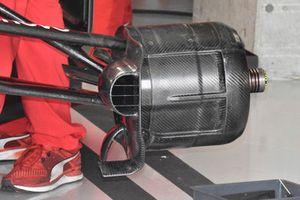 Ferrari SF71H front brake duct detail