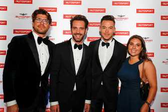 Jean-Eric Vergne, André Lotterer and Sara Hernmarck