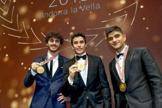 Champions Marc Marquez, Francesco Bagnaia, Jorge Martin