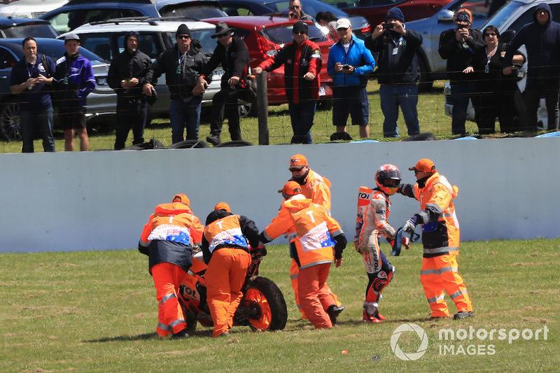 Marc Marquez, Repsol Honda Team caída
