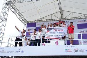 Podium selebrasi Haridarma Manoppo, Toyota Team Indonesia