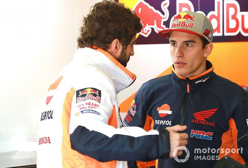 Marc Marquez, Repsol Honda Team, mit Santi Hernandez