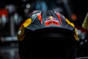 Red Bull KTM Factory Racing garage, rain