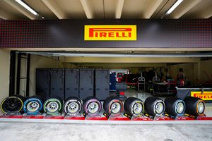 The full range of Pirelli F1 tyres