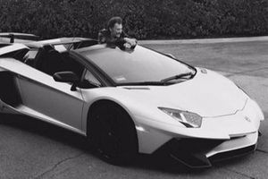 Johnny Hallyday with a Lamborghini