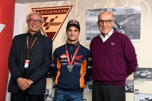 Carmelo Ezpeleta, CEO Dorna Sports, Dani Pedrosa, Repsol Honda Team, Vito Ippolito, FIM President