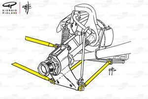 Ferrari 312B3 new rear suspension