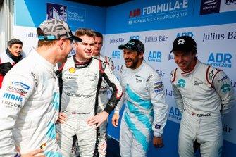 Stoffel Vandoorne, HWA Racelab, Oliver Rowland, Nissan e.Dams, Gary Paffett, HWA Racelab, Oliver Turvey, NIO Formula E Team