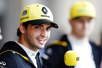 Carlos Sainz Jr, Renault Sport F1 Team y Nico Hulkenberg, Renault Sport F1 Team.