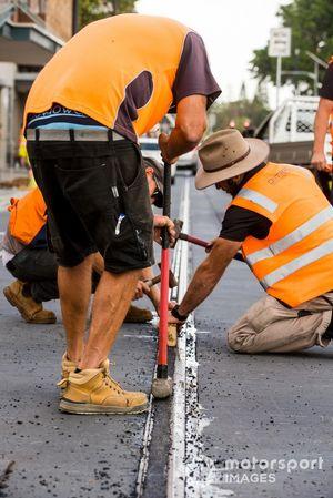 Streckenarbeiter in Newcastle