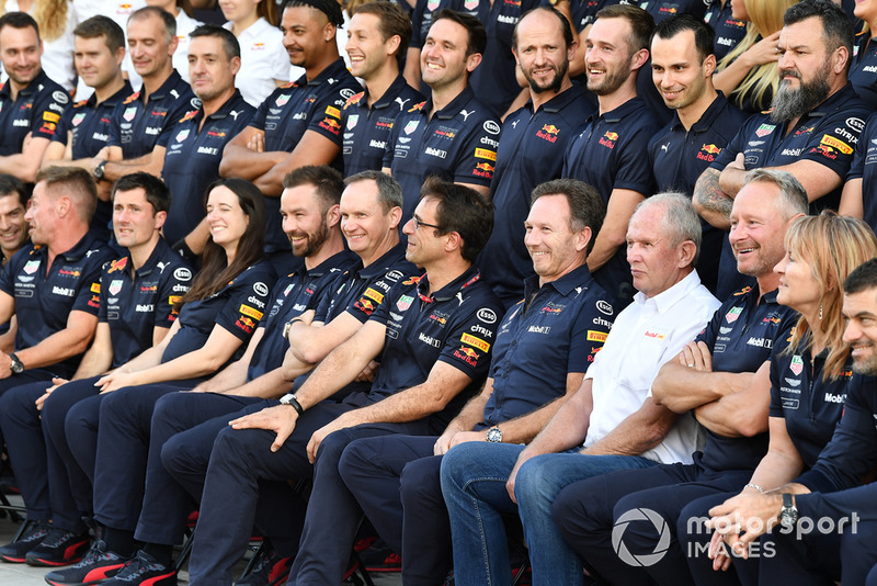 Photo de groupe de Red Bull Racing
