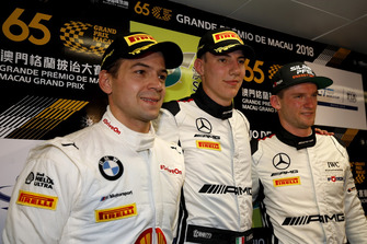 Press Conference, #42 BMW Team Schnitzer BMW M6 GT3: Augusto Farfus, #999 Mercedes-AMG Team GruppeM Racing Mercedes - AMG GT3: Raffaele Marciello, #888 Mercedes-AMG Team GruppeM Racing Mercedes - AMG GT3: Maro Engel