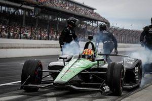 Oriol Servia, Arrow Schmidt Peterson Motorsports Honda, pitstop