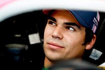 Lance Stroll, Racing Point sits in his cockpit