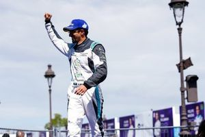 Ahmed Bin Khanen, Saudi Racing, celebrates on his way to the podium